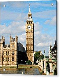 Big Ben Acrylic Print by Pravine Chester