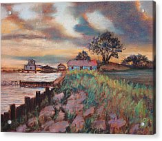 Acrylic Print featuring the painting Big Lake by AnnE Dentler