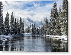 Big Springs In Winter Idaho Journey Landscape Photography By Kaylyn Franks Acrylic Print