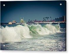 Big Wave On The Coast Of The Indian Ocean Kerala India Acrylic Print