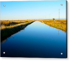 Biggs Canal Acrylic Print by Suzanne Lorenz