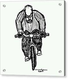 Biking Man Acrylic Print by Karl Addison