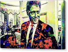 Bill Clinton Acrylic Print
