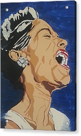 Acrylic Print featuring the painting Billie Holiday by Rachel Natalie Rawlins