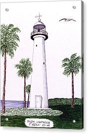 Biloxi Lighthouse Acrylic Print by Frederic Kohli