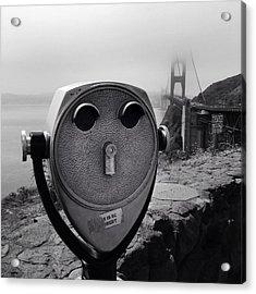 Binoculars Acrylic Print by Les Cunliffe