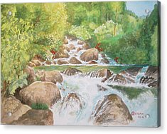 Bishop Creek South Fork Acrylic Print by Charles Hetenyi