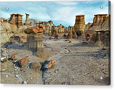 Acrylic Print featuring the photograph Bisti Wilderness Hoodoos by Alan Toepfer