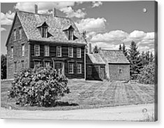 Black And White Photograph Of Olsen House Cushing Maine Acrylic Print by Keith Webber Jr