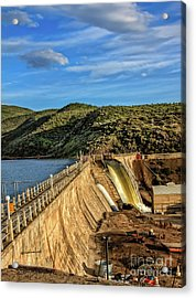 Acrylic Print featuring the photograph Black Canyon Dam by Robert Bales