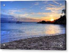 Black Rock Sunset Acrylic Print