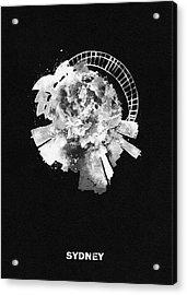 Black Skyround Art Of Sydney, Australia Acrylic Print