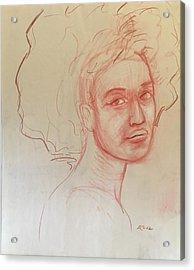 Black Woman 2 Acrylic Print by Alejandro Lopez-Tasso