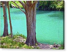 Blanco River Texas Acrylic Print by Ray Shrewsberry