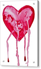 Bleeding Heart Acrylic Print by Michal Boubin