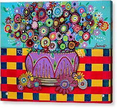 Acrylic Print featuring the painting Blooms by Pristine Cartera Turkus