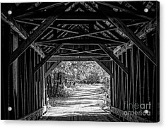 Blow Me Down Covered Bridge Cornish New Hampshire Acrylic Print by Edward Fielding