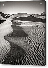 Blowing Sand - Black And White Sand Dune Photograph Acrylic Print