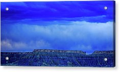 Blue Badlands Acrylic Print
