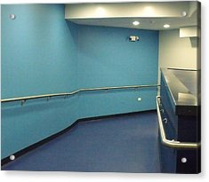 Blue Corridor Acrylic Print