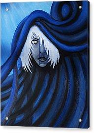 Blue Acrylic Print by Edwin Alverio