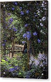 Blue Garden Respite Acrylic Print by Doug Kreuger
