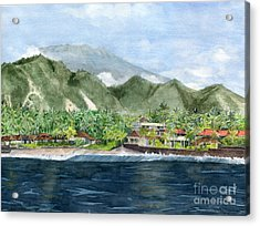 Acrylic Print featuring the painting Blue Lagoon Bali Indonesia by Melly Terpening