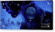 Blue Moon Acrylic Print by Prar Kulasekara