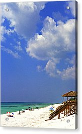 Blue Mountain Beach Acrylic Print by Thomas R Fletcher