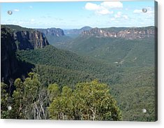 Blue Mountains Acrylic Print by Carla Parris