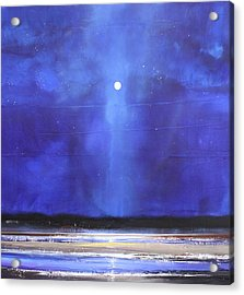 Blue Night Magic Acrylic Print by Toni Grote