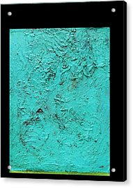 Aqua Blue And Green No 11 Oil On Board 16 X 20  Acrylic Print