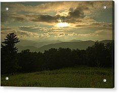 Acrylic Print featuring the photograph Blue Ridge Mountain Sunset by Stephen  Vecchiotti