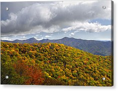 Blue Ridge Mountains In Autumn Color Acrylic Print by Darrell Young