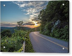 Blue Ridge Parkway Morning Sun Acrylic Print