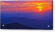 Blue Ridge Parkway Sunset, Va Acrylic Print by The American Shutterbug Society