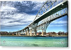Blue Water Bridge Acrylic Print