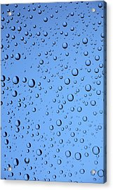 Blue Water Bubbles Acrylic Print by Frank Tschakert