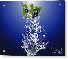 Blueberry Splash Acrylic Print