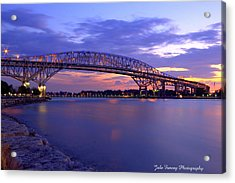 Bluewater Bridge At Sunset Acrylic Print