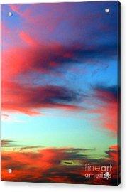 Blushed Sky Acrylic Print by Linda Hollis