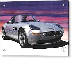 Acrylic Print featuring the painting Bmw Z8 by Rod Seel