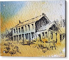 Boardinghouse Cable Ghost Town Montana Acrylic Print by Kevin Heaney