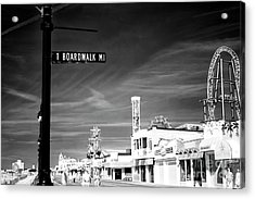 1 Boardwalk Mile At Ocean City Infrared Acrylic Print by John Rizzuto