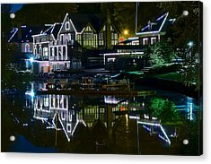 Boathouse Row II Acrylic Print by Frozen in Time Fine Art Photography
