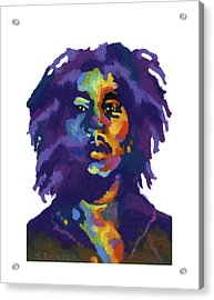 Bob Marley-for T-shirt Acrylic Print