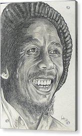 Bob Marley Acrylic Print by Stephen Sookoo