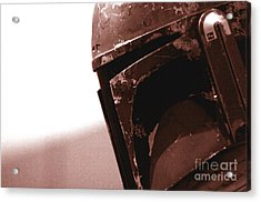 Acrylic Print featuring the photograph Boba Fett Helmet 32 by Micah May