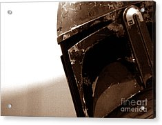 Acrylic Print featuring the photograph Boba Fett Helmet 33 by Micah May