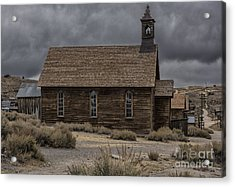 Acrylic Print featuring the photograph Stormy Day In Bodie State Historic Park by Sandra Bronstein